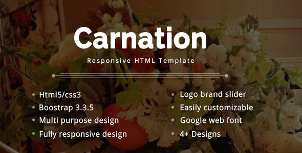 Carnation Multipurpose eCommerce Template