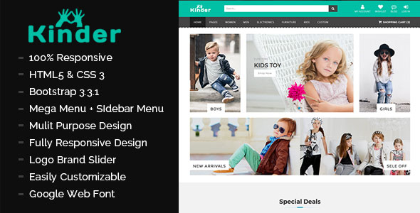 Kinder - Multipurpose eCommerce Template